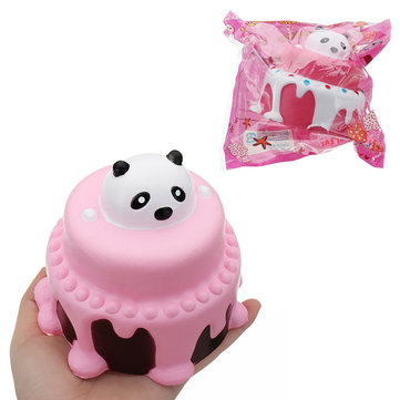 Bear Head Cake Squishy 11*11.5CM Slow Rising With Packaging Collection Gift Soft Toy