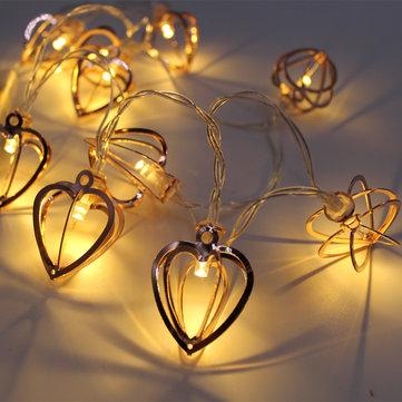 KCASA KT-4 Halloween Dekoratif Kalp Şekilli Işıklar 1 Metre 10 Işık