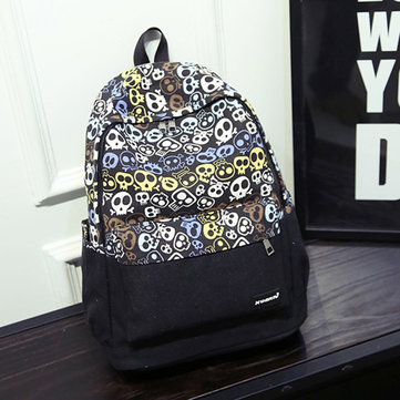 Floral Canvas Casual Durable Backpack Teenager Light Outdoor Travel School Bag