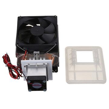 12V 6A 72W Thermoelectric Peltier Refrigeration Cooling Cooler Fan System Heat Sink Kit Cooler
