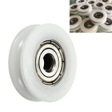 5x24x7mm U Groove Nylon Round Pulley Wheel Roller For 3.8mm Rope Ball Bearing