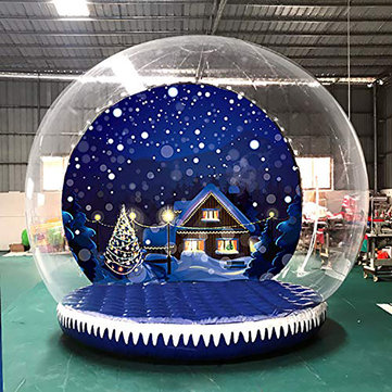 3m 350W / 500W High Inflatable House Outdoor Transparent Bubble Tent + Air Pump