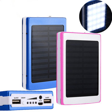 DIY 20000mAh Solar Energy Power Bank Case Box for Samsung S8 Xiaomi 6 iPhone 8