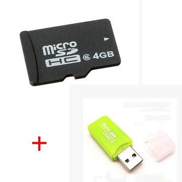 Tarjeta Micro SD de 4GB con lector de tarjeta para RC FPV Cámara Cuadricóptero
