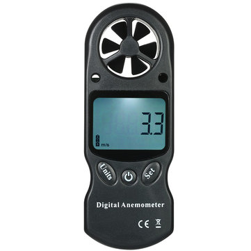 3 in 1 Handheld Digital Anemometer Wind Speed Meter Thermometer Hygrometer Temperature & Humidity Tester with LCD Backlight