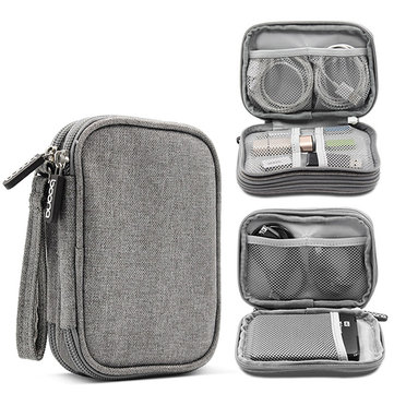 Men And Women Double Layer Travel Digital Electronic Accessories Flash Drive Storage Bag