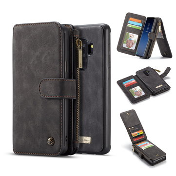 Caseme Magnetic Detachable Zipper Wallet Card Slot Phone Case For Samsung Galaxy S9 Plus