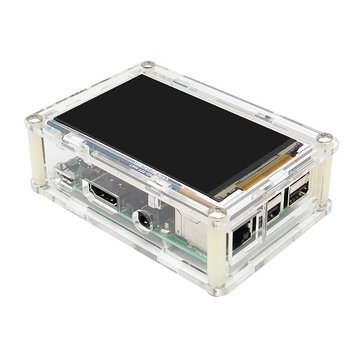 Geekwrom HD 3.5 Inch TFT Display Shield 800x480 For Raspberry Pi 3B 2B + Acrylic Matching Case Kit