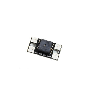 Lantian 5V Supper Loud 110DB Buzzer W/ Tail LED Light WS2812 Programmable for FPV RC Drone