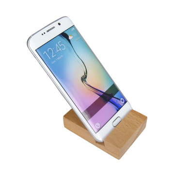 Universal Practical Solid Beech Wooden Cell Phone Bracke Stand Holder With Notch: 20mm
