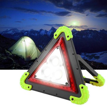 LUSTREON 3 COB+36 LED Outdoor Portable Handle Triangle Work Light Car Repair Camping Emergency Lamp