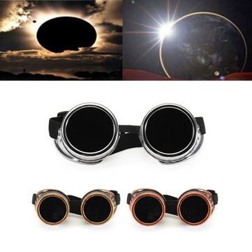 Color Solar Eclipse Glasses Goggles Electric Welding Sunglasses Windproof Riding Glasses