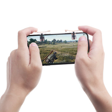 A Pair Universal Mobile Game Handle Shooting Aid Transparent Gamepad Game Controller for Mobile