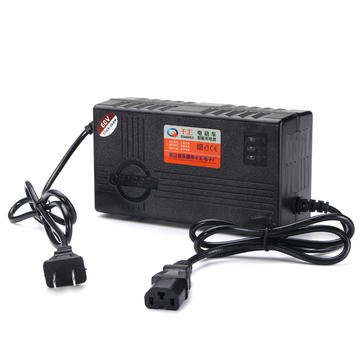 60V 20AH Charger For Scooter Wheel Electric Bicycle E-bike Lead Acid Battery Black