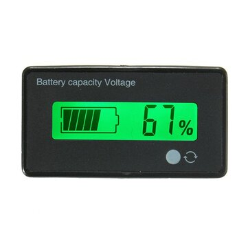 12V/24V/36V/48V 8-70V LCD Acid Lead Lithium Battery Capacity Indicator Digital Voltmeter