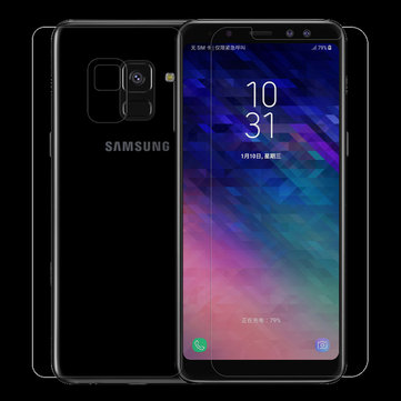 NILLKIN 0.33mm Anti-Explosion AGC Glass Front & Back Film for Samsung Galaxy A8 (2018)