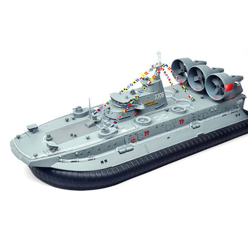 Brushless Warship RC Boat 2.4G 1/110 Ship Model HG-C201 Landing and water Air Cushion Landing Craft