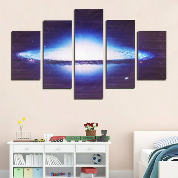 5 Pieces Frameless Universe Nebula Shape Canvas Printing Wall Art Picture Home Decor