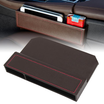 PU Leather Car Seat Crevice Storage Box Gap Filler Organizer Slit Catcher 25X170cm