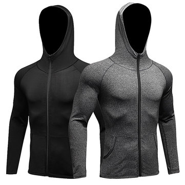 Fitness Running Training Long-sleeved Zipper Casual Hoodies