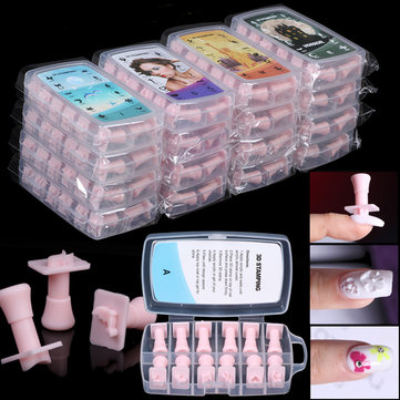 192Pcs 3D Nail Art Stamping Multi Pattern