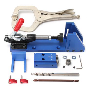 Drillpro Portable Pocket Hole Jig Kit Woodworking Tool for Screw Drill Carpenter