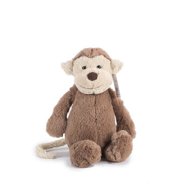 KCASA 30cm Monkey Stuffed Plush Toy Popular Fashion Kawaii Soft Mascot Doll for Children Christmas Birthday Gift Monkey Stuffed Animal Doll Multi-function Baby Stroller Crib Hanging Plush