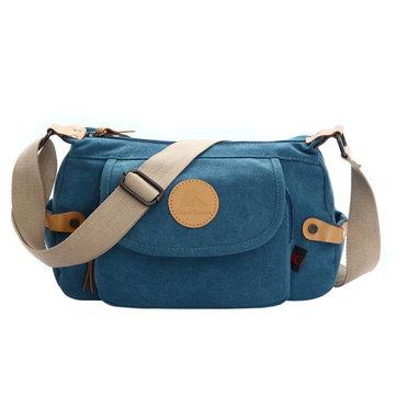 Женская мужская ретро холщовая повседневная сумки на плечо