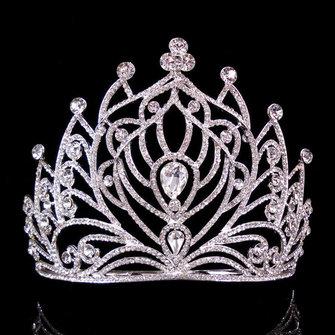 Mariée rhinestone cristal couronne mariage nuptiale page concerto tiare peigne princesse reine headpiece