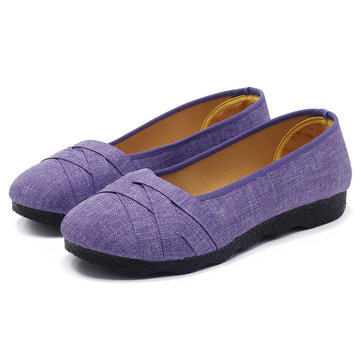 Large Size Soft Sole Flats Loafers For Women