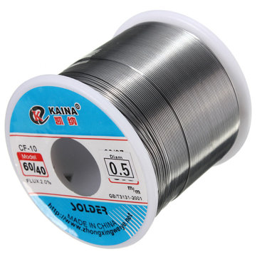 0.5mm 500g Soldering Wires Welding Iron Rosin Core 60/40 Lead Tin Flux 2.0 Percent
