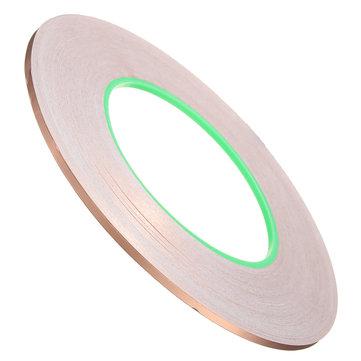 Copper Foil Tape 3mmx50m Conductive Adhesive Conductive Shielded Tape