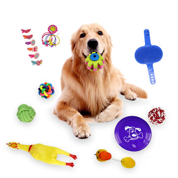 18pcs Dogs Grind Their Teeth And Bite Toys Resistance to bite toys Pet Toys