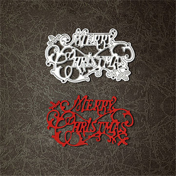Merry Christmas Cutting Dies DIY Stencils Scrapbook Photo Album Decor Craft Tool