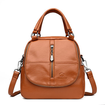 Women Double Layer Handbag Multi-function Crossbody Bag