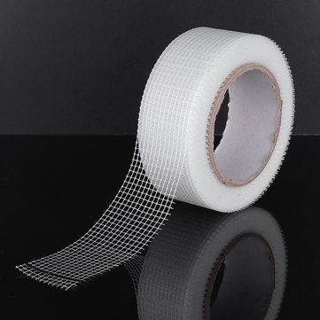 30mX50mm Alkali & Corrosion Resistant Fiberglass Cloth Tape Mesh Joint Plain Weave
