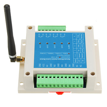 1.5W SK109 Coded Industrial Grade Remote Wireless 4CH Channel Switch Two-way Security Control Module