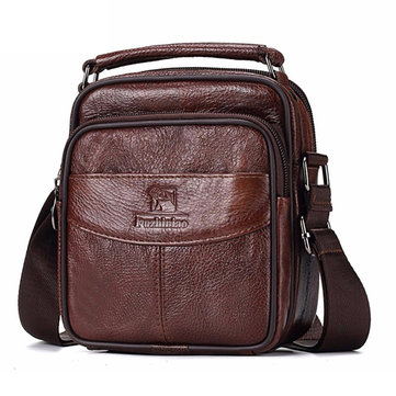 FUZHINIA Men Genuine Leather TOP Quality New Messenger Bag Casual Multifunction Travel Shoulder Bag