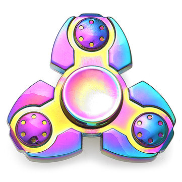 Tri-Spinner Colorful Rainbow Shape Rotating Fidget Spinner à main EDC Fingertips Réduire les jouets de stress