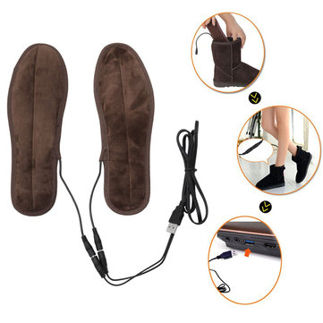 1 Pair USB Electric Powered Heating Insole Unisex Feet Warmer Shoes Pads
