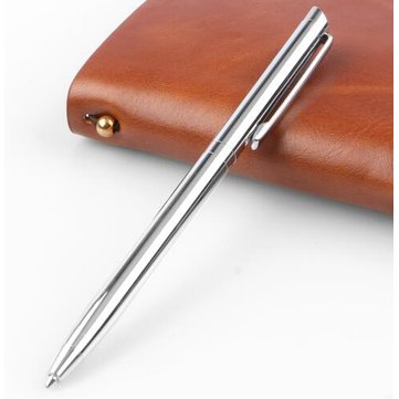Rotating Metal Ballpoint Pen Stainless Steel Ball Pen Steel Pen Commercial Stationery Pen
