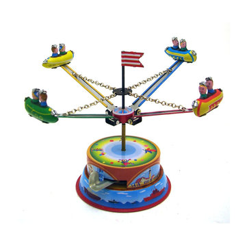 Buy Classic Vintage Clockwork Amusement Park Nostalgic Wind Up Children Kids Tin Toys With Key for $7.99 in Banggood store