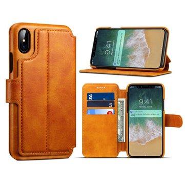 PremiumCowardCüzdanKartYuvasıKickstand Kılıf için iPhoneX