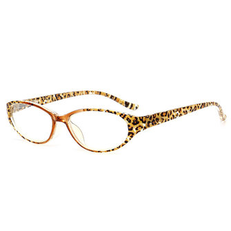 Men Women Leopard Resin Presbyopic Glasses