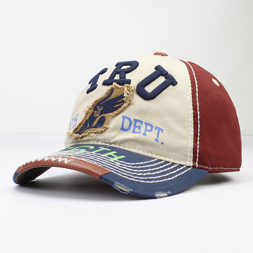 Washed Cotton Letter Embroidery Baseball Cap Snapback Hat