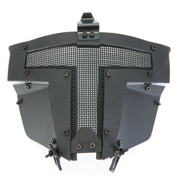 Tactical Airsoft Helmet Cover SPT Steel Mesh Full Face Mask