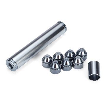 11pcs Titanium Gray 1/2inch-28inch Vehicle Fuel Filter Kit Aluminum Fit For NAPA 4003 For WIX 24003