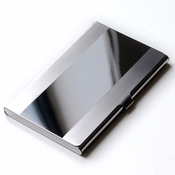 Men Business Bank Stainless Credit ID Card Case Holder Box Book Wallet Folder Dispencer Pocket