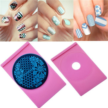 Nail Art Image Stamping Plate Holder Plastic Plat Template Manicure DIY Tool