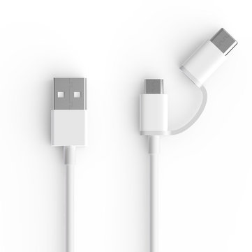 Original Xiaomi ZMI 2 in 1 Micro USB Type-C Sync Fast Charger Data Phone Cable for Samsung Huawei